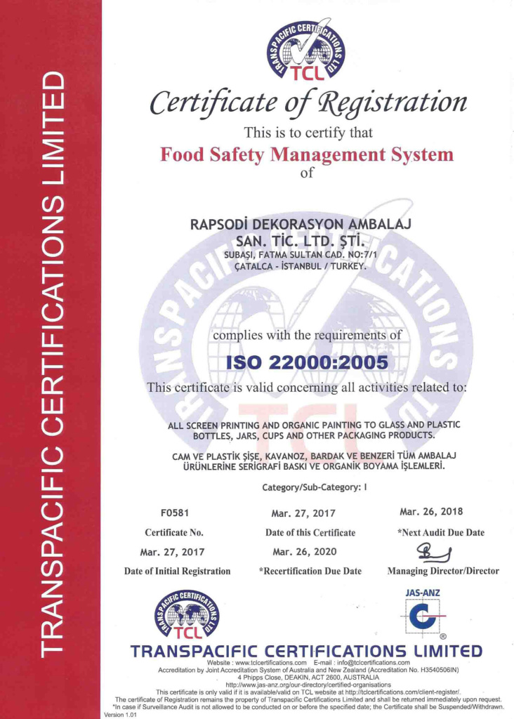 CERT-F0581 RAPSODI DEKORASYON (8979) (8977)